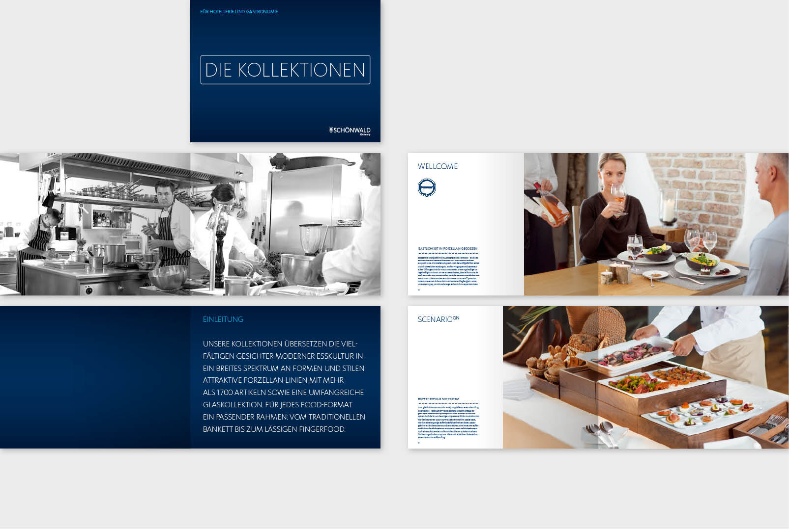 Marken Broschuere Design Kollektion